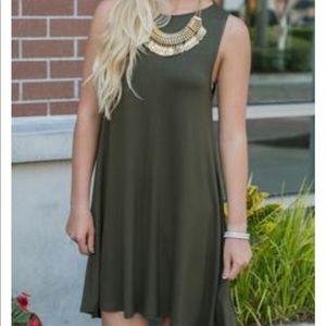 Hourglass Lilly gray tank swing dress, Sz S/M